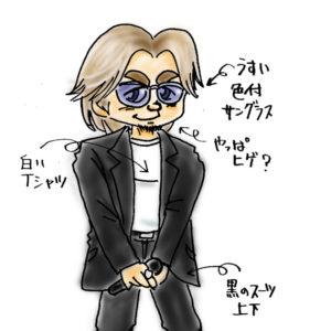 Gibsonイベントの松本さん (1999.10)