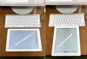 iPadを机の上で回転